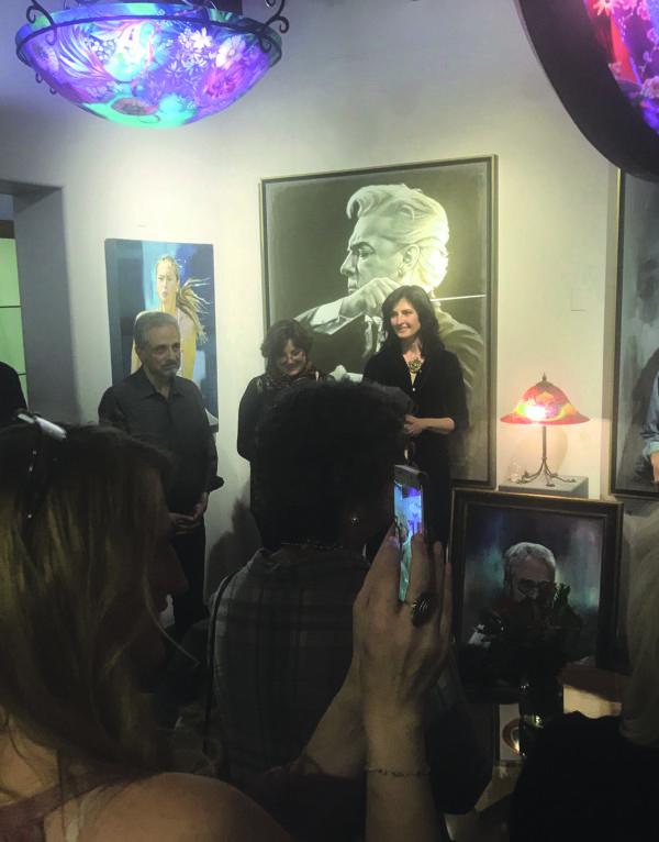 Khaled Al Awar was recently honored by Katarzyna Kociomyk at Primavera Gallery